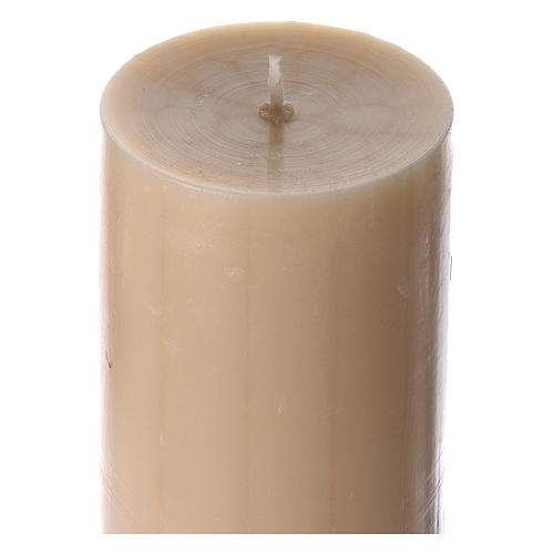 Beeswax Paschal Candle with Cross, Dove, Alpha and Omega 8x120 cm 5