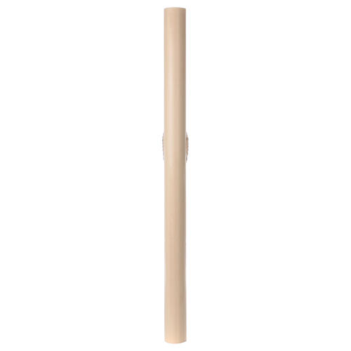 Beeswax Paschal Candle with Cross, Dove, Alpha and Omega 8x120 cm 7