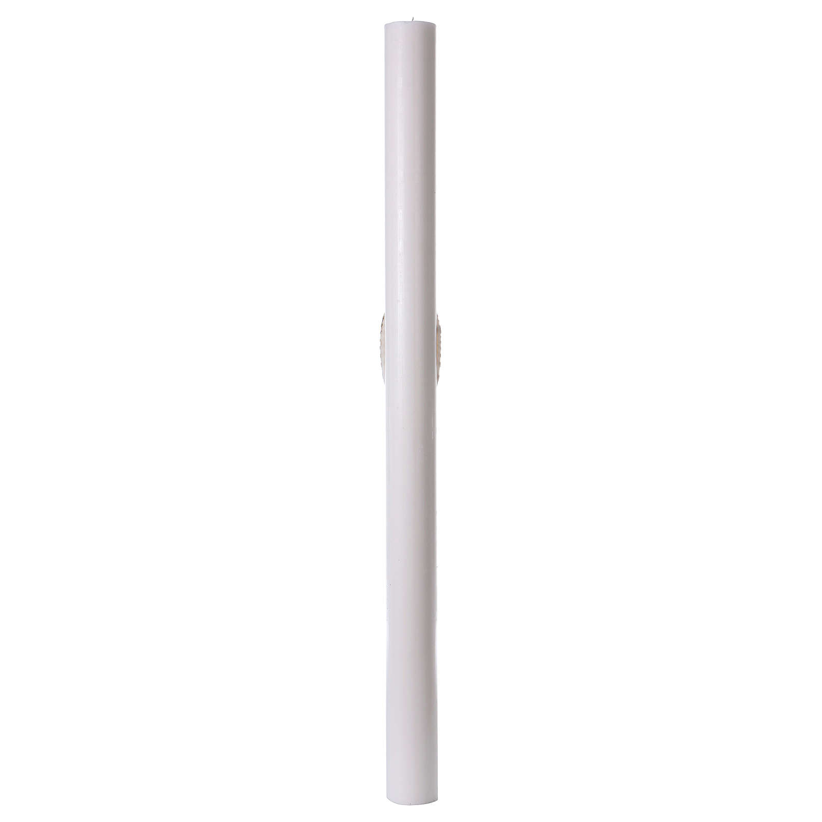 Cero pasquale bianco Croce e Colomba 8x120 cm 3