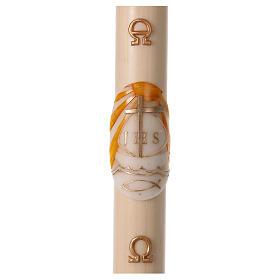 Bougies, cierges, chandelles: Cierge pascal cire d'abeille Bateau 8x120 cm