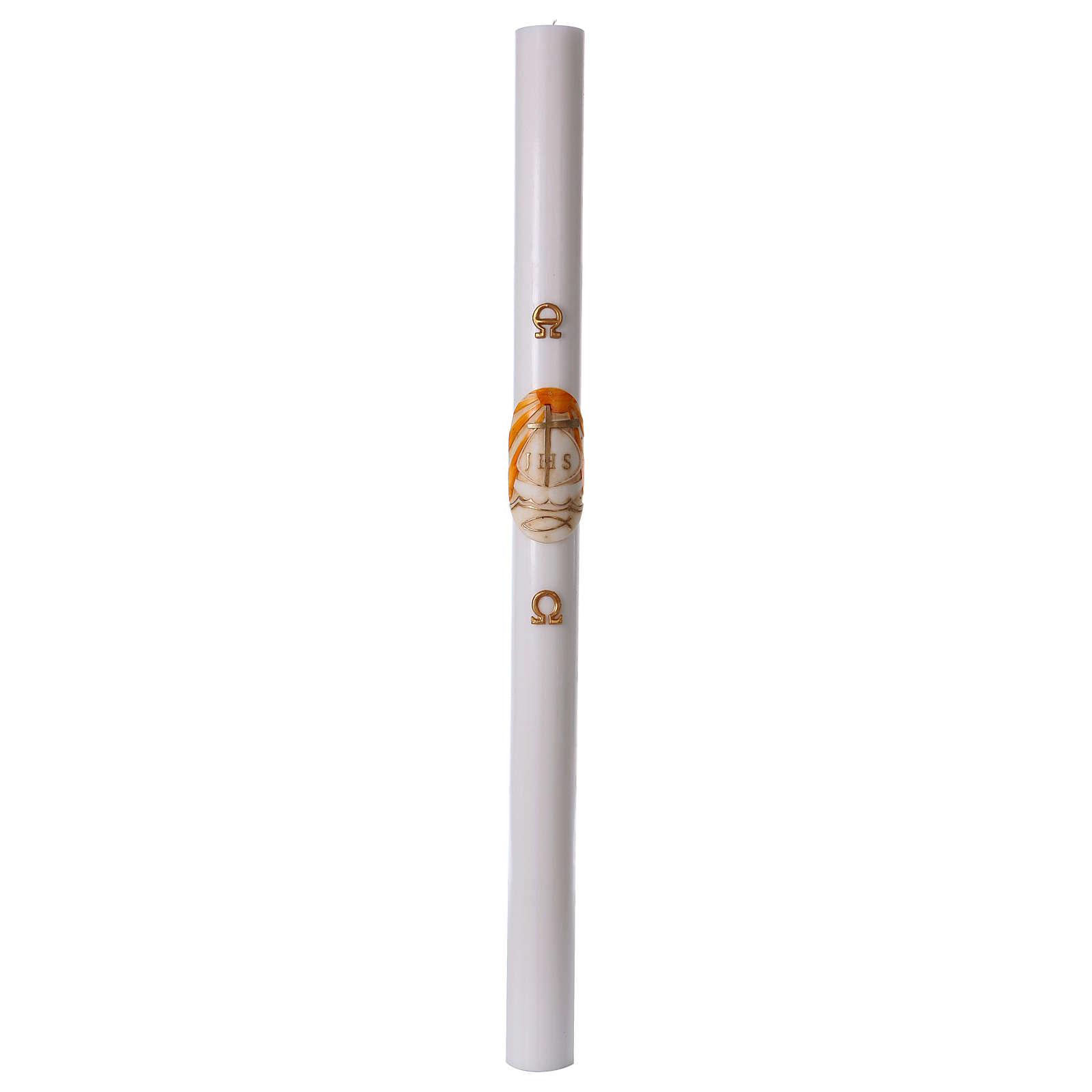 Cierge pascal blanc Bateau 8x120 cm 3
