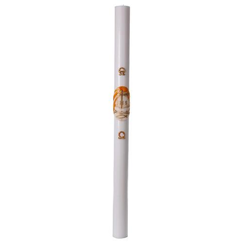 Cierge pascal blanc Bateau 8x120 cm 4
