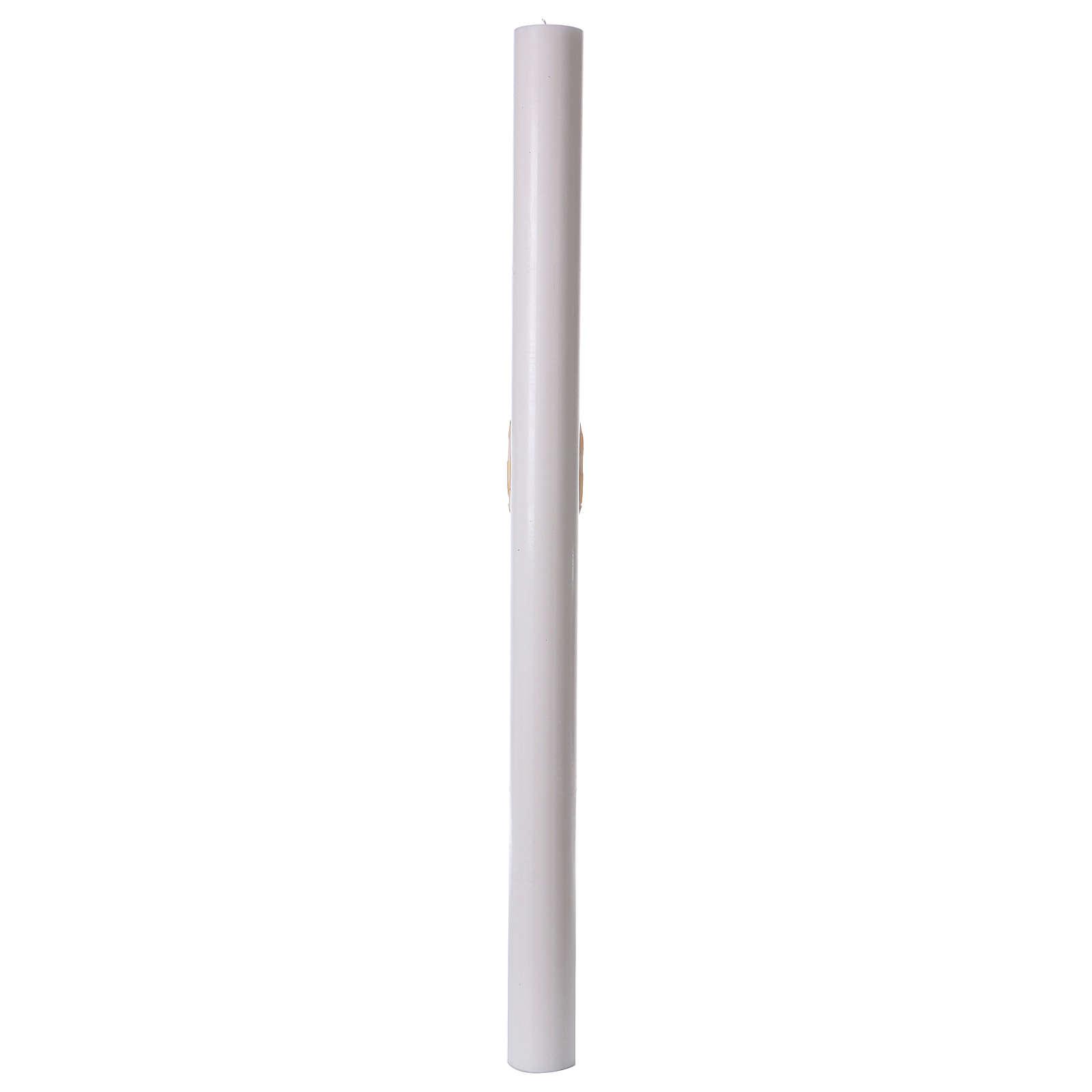 Cero pasquale bianco Barca 8x120 cm 3