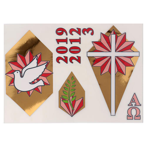 Paschal candle stickers, set H 1