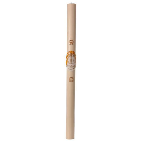 Cero pasquale cera d'api Barca 8x120 cm CON RINFORZO 4