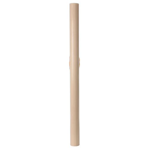 Beeswax Paschal Candle with Boat 8x120 cm WITH REINFORCEMENT 8