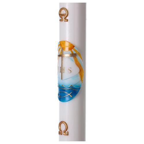 Cirio Pascual blanco Barca decoración 8x120 CON REFUERZO 3