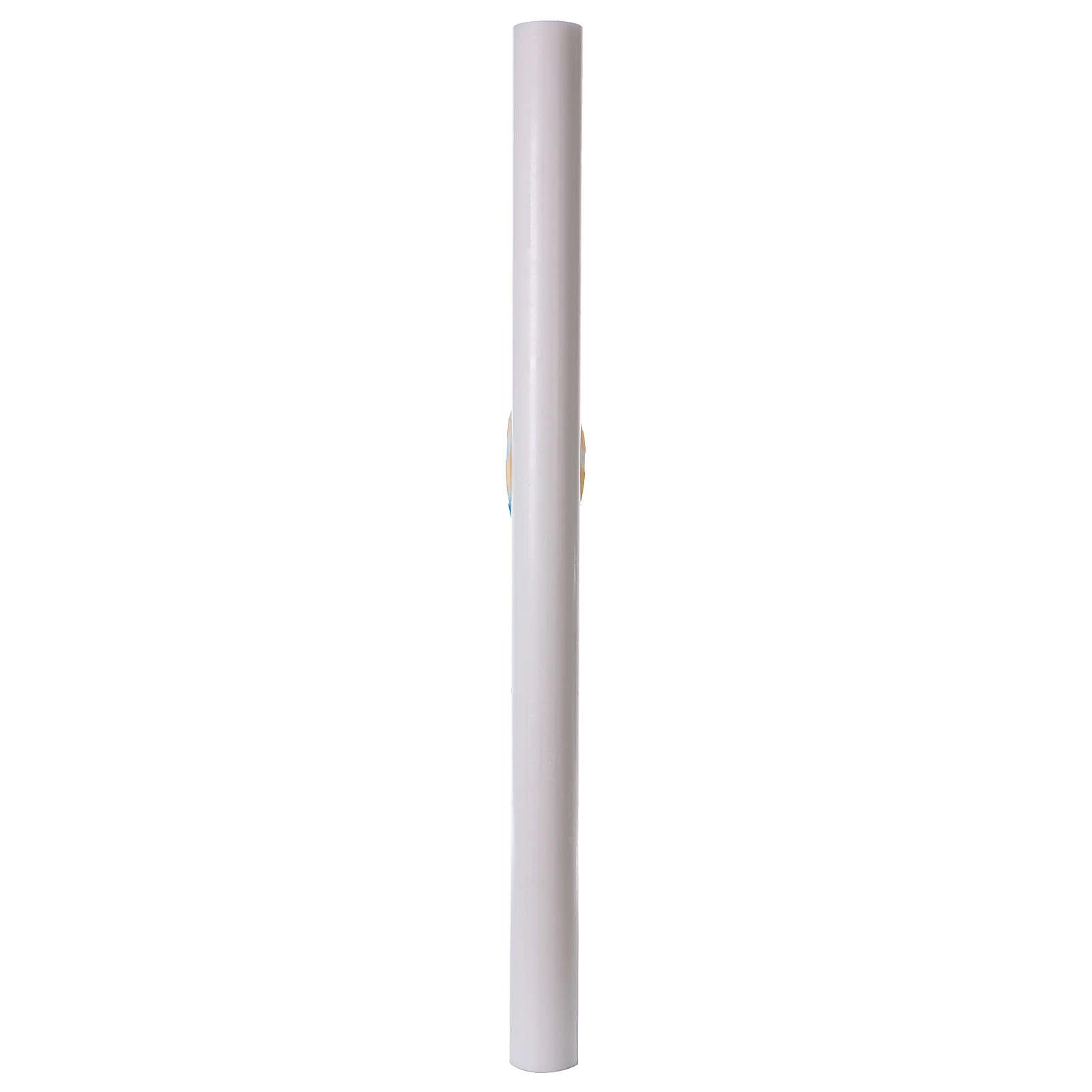 Cero pasquale bianco Barca colorata 8x120 cm CON RINFORZO 3