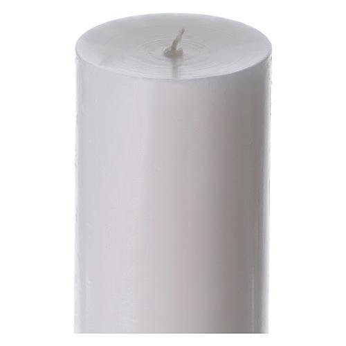 Cierge pascal blanc Croix Colombe rouge 8x120 cm AVEC  RENFORT 5