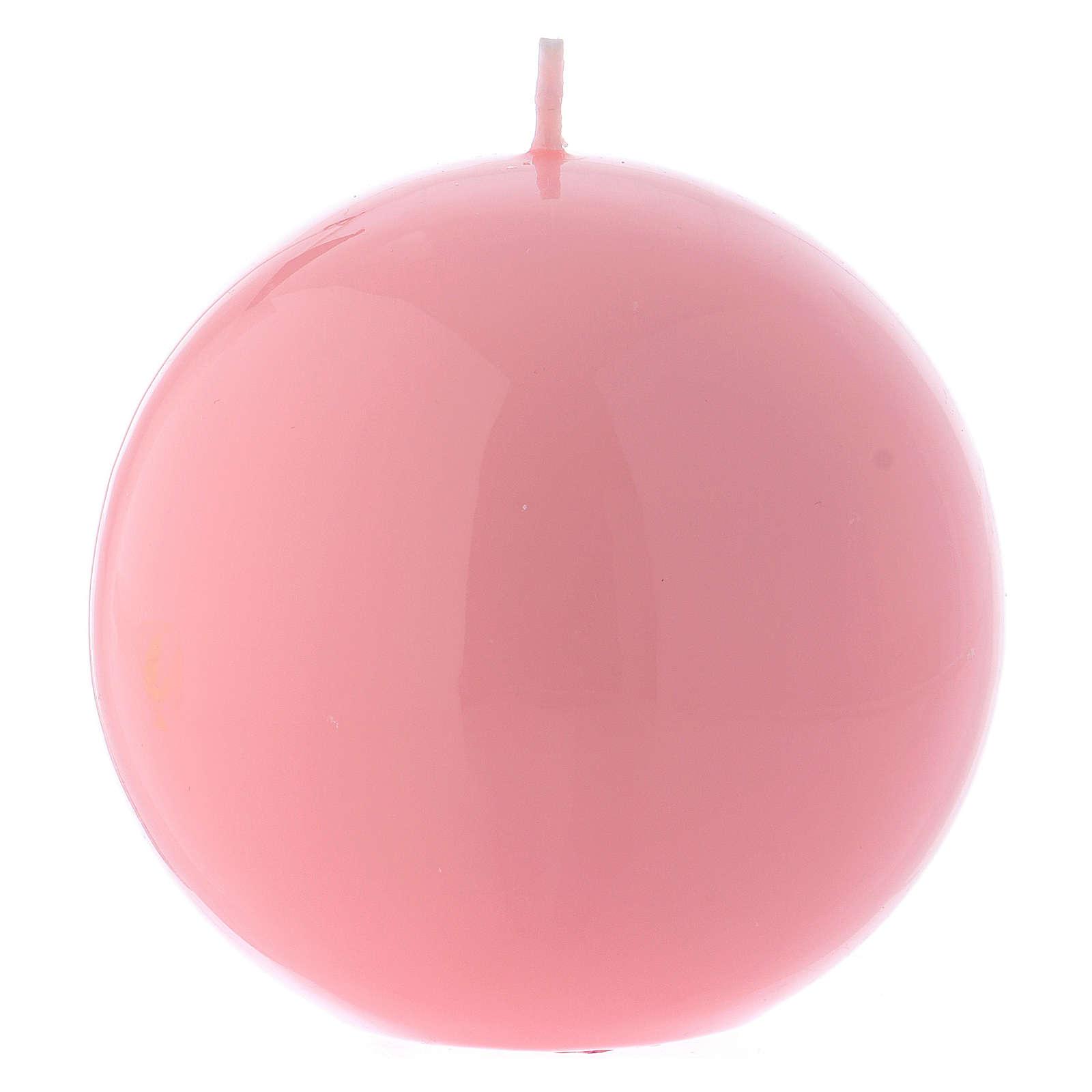 Świeca ołtarzowa Kula Ceralaccata Różowa śr. 10 cm 3