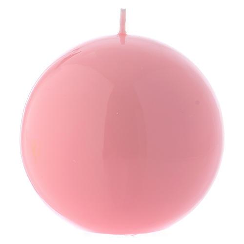 Świeca ołtarzowa Kula Ceralaccata Różowa śr. 10 cm 1
