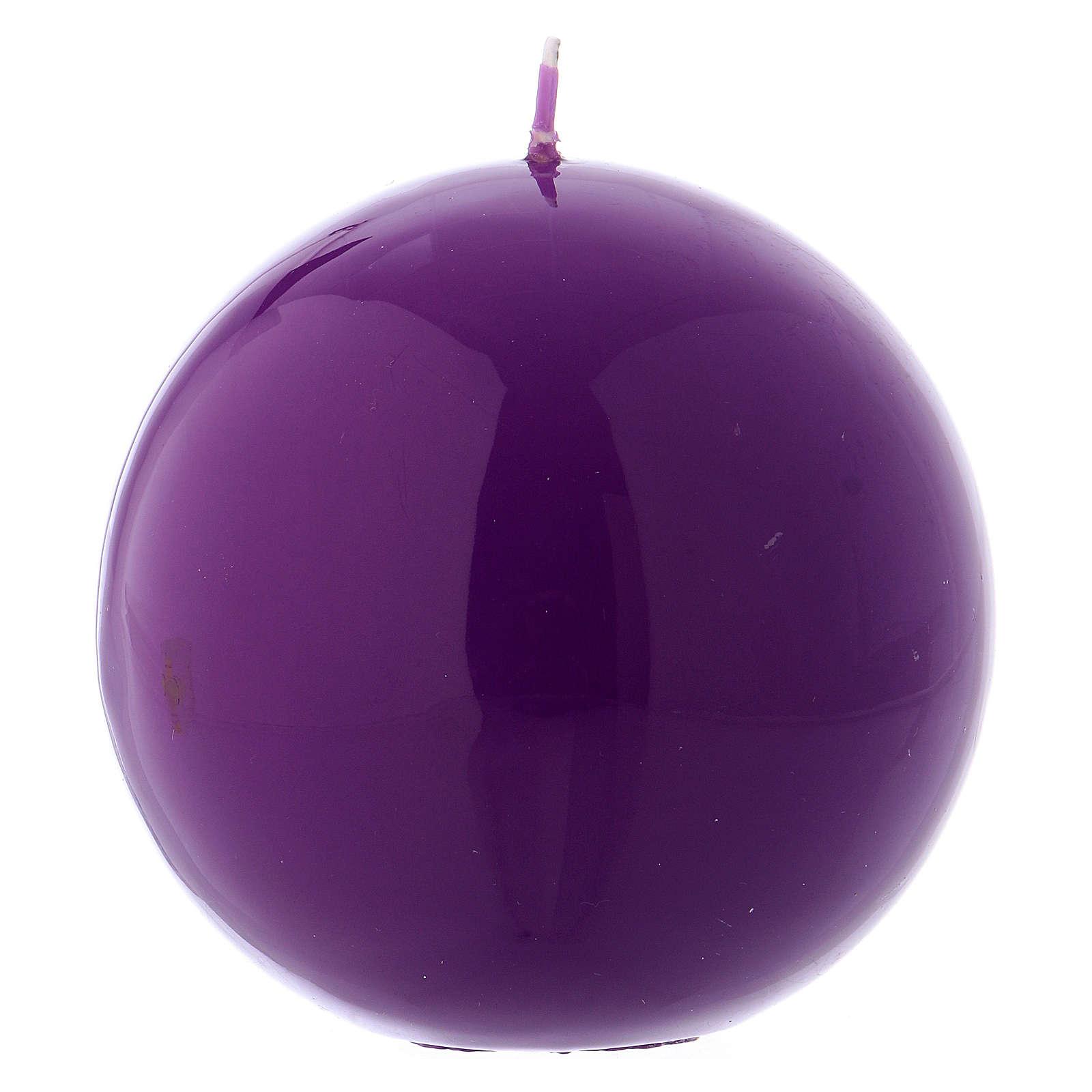 Vela de Altar Esfera Ceralacca Violeta d. 10 cm 3