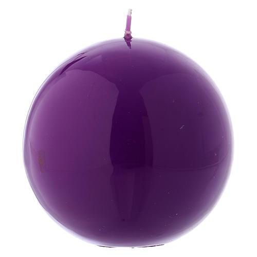 Vela de Altar Esfera Ceralacca Violeta d. 10 cm 1
