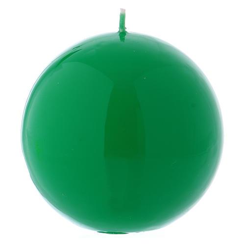 Bougie liturgique sphérique Ceralacca vert diam. 10 cm 1