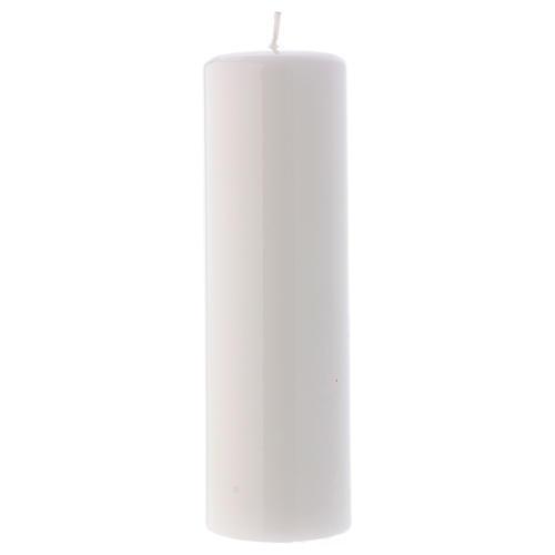Bougie liturgique brillante Ceralacca 20x6 cm blanc 1