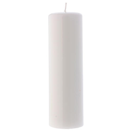 Candelotto Liturgico Lucido Ceralacca 20x6 cm Bianco 1