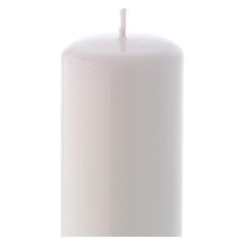 Candelotto Liturgico Lucido Ceralacca 20x6 cm Bianco 2