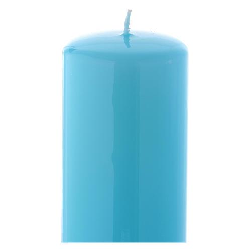 Candelotto da Mensa Lucido Ceralacca 20x6 cm Azzurro 2