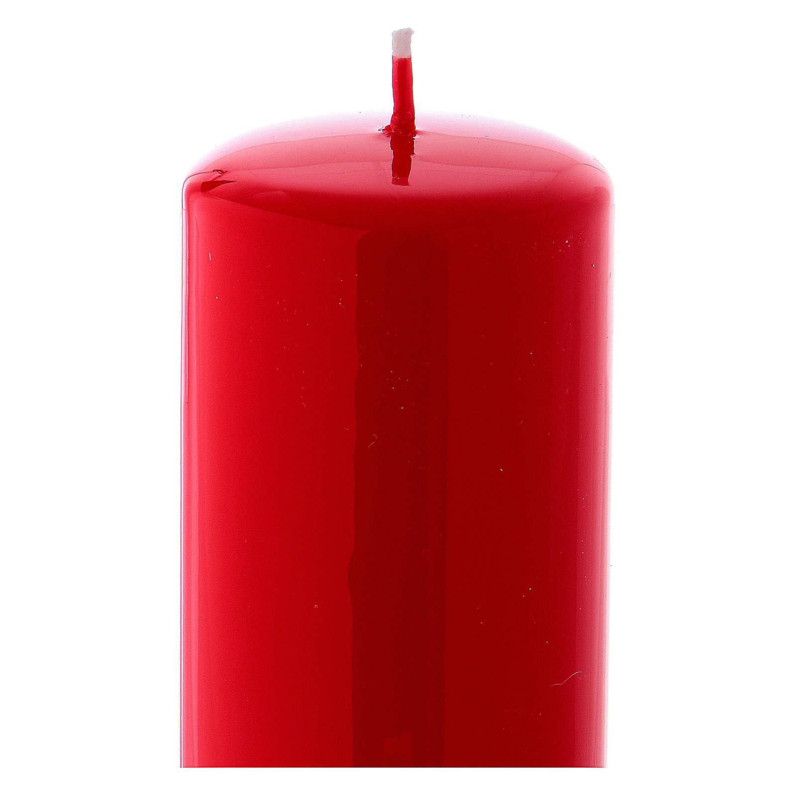 Candelotto Liturgico Lucido Ceralacca 20x6 cm Rosso 3