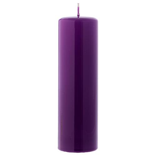 Ceralacca wax candle 20x6 cm, purple 1