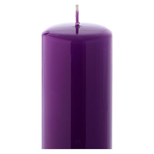 Ceralacca wax candle 20x6 cm, purple 2