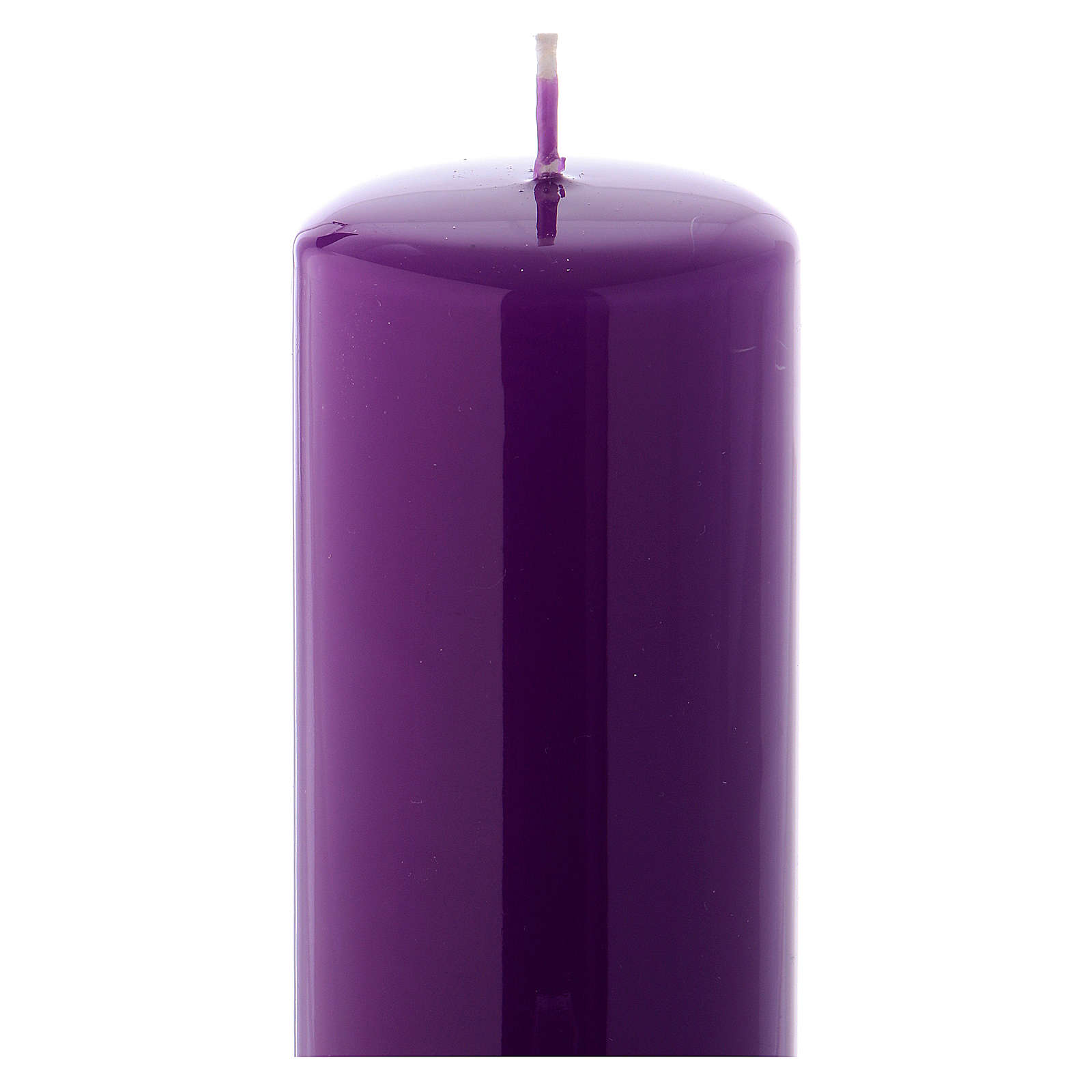 Purple altar candle 20x6 cm, Ceralacca collection 3