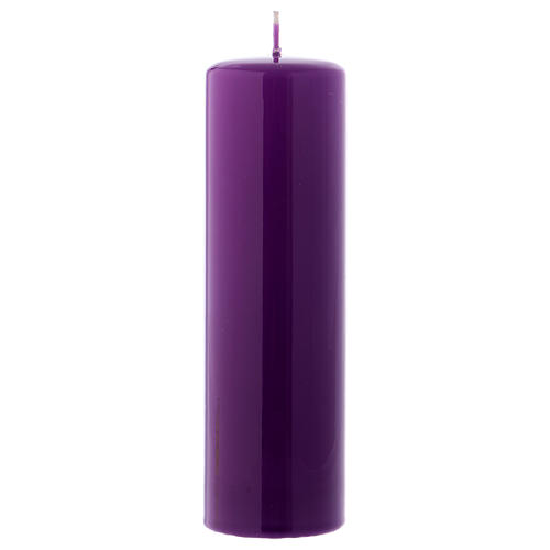 Purple altar candle 20x6 cm, Ceralacca collection 1