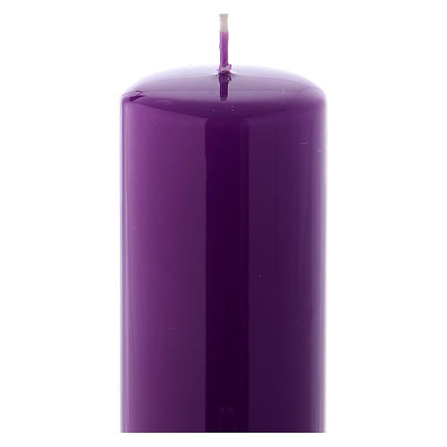 Purple altar candle 20x6 cm, Ceralacca collection 2