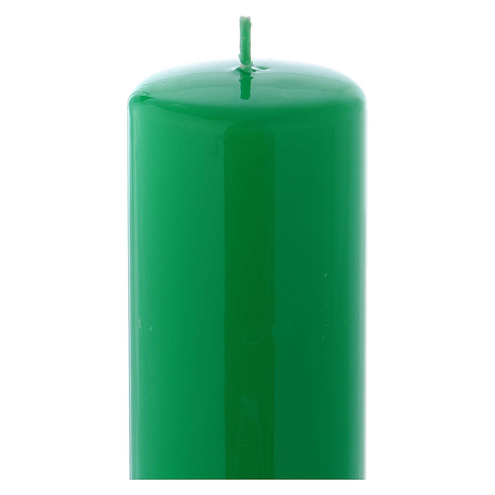 Candelotto da Mensa Lucido Ceralacca 20x6 cm Verde 3