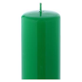 Candelotto da Mensa Lucido Ceralacca 20x6 cm Verde s2
