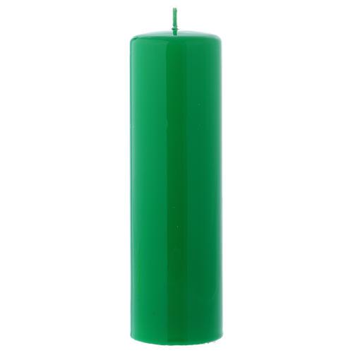 Candelotto da Mensa Lucido Ceralacca 20x6 cm Verde 1