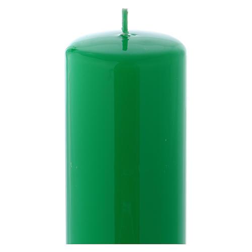Candelotto da Mensa Lucido Ceralacca 20x6 cm Verde 2
