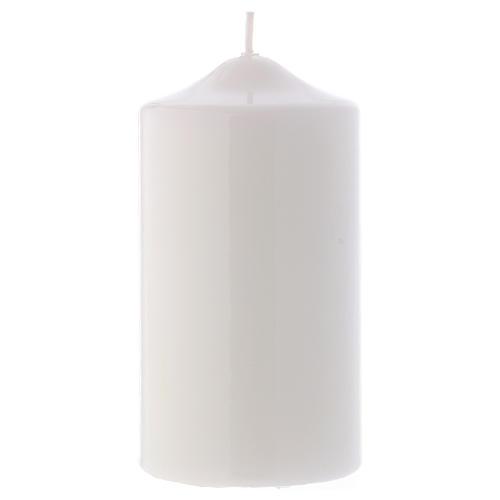 Candelotto Liturgico Lucido Ceralacca 15x8 cm bianco 1