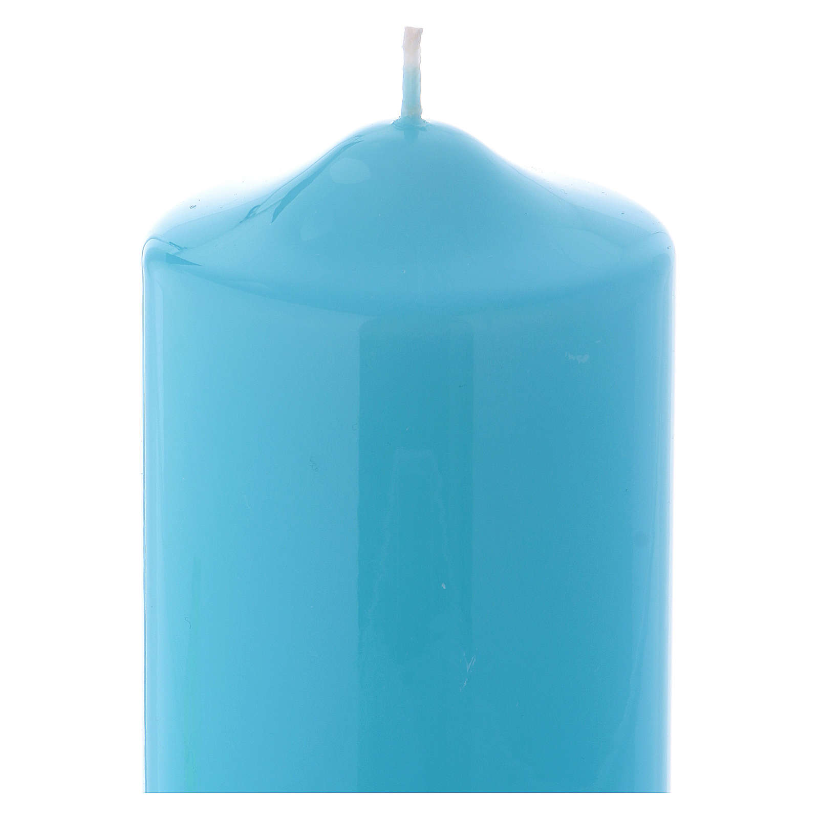 Ceralacca wax candle 15x8 cm, light blue 3