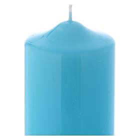 Ceralacca wax candle 15x8 cm, light blue s2