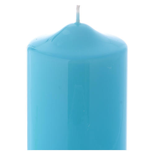 Ceralacca wax candle 15x8 cm, light blue 2