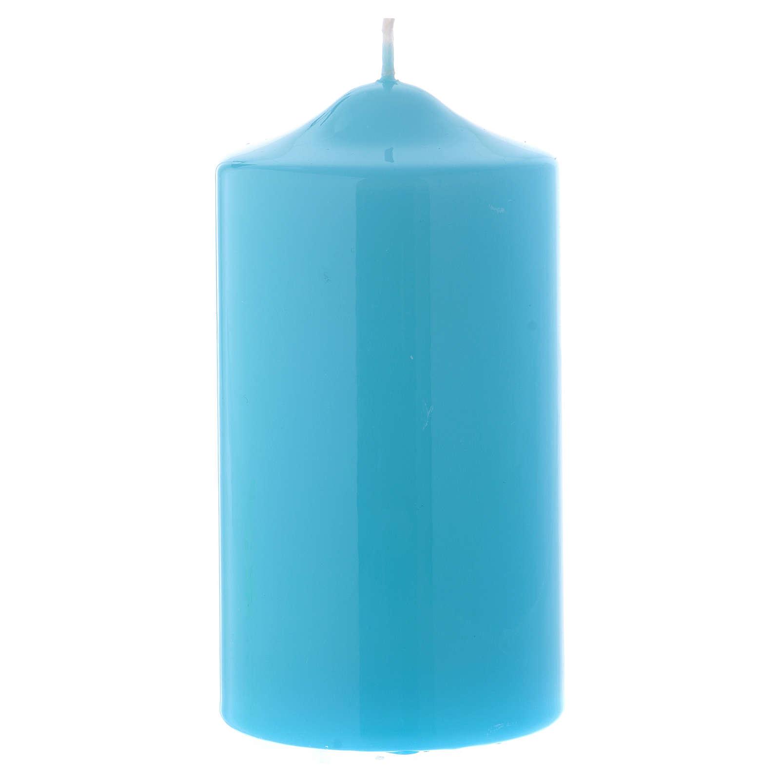 Candelotto da Mensa Lucido Ceralacca 15x8 cm azzurro 3