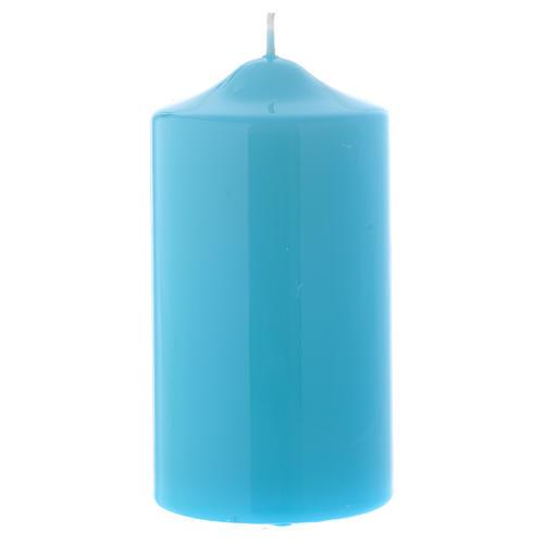 Candelotto da Mensa Lucido Ceralacca 15x8 cm azzurro 1