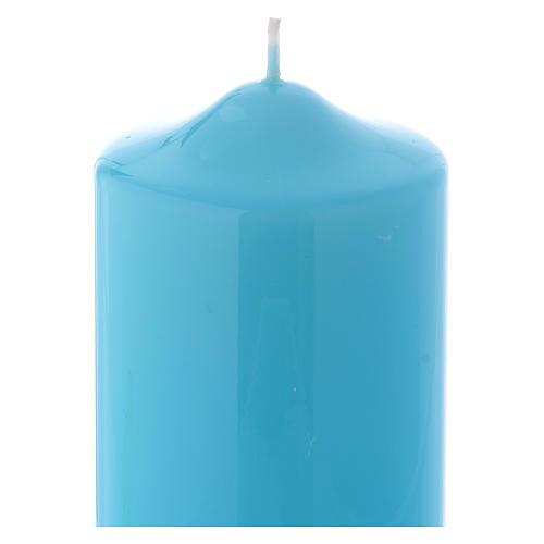 Candelotto da Mensa Lucido Ceralacca 15x8 cm azzurro 2