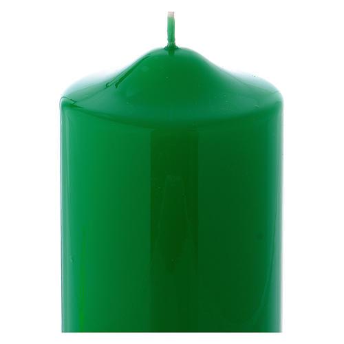 Candelotto da Mensa Lucido Ceralacca 15x8 cm verde 2