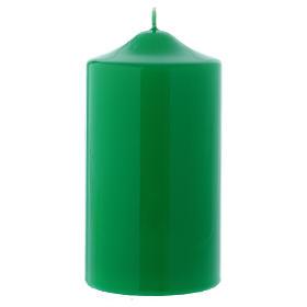 Świece, paschały, gromnice, świeczki: Świeczka na mensę ołtarzową błyszcząca Ceralacca 15x8 cm zielona