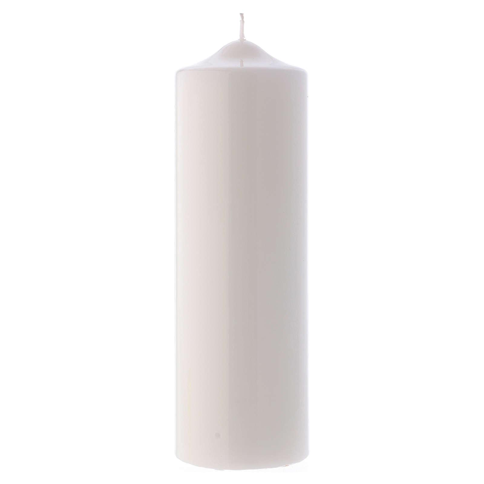 Cirio Litúrgico Lúcido Ceralacca 24x8 cm blanco 3