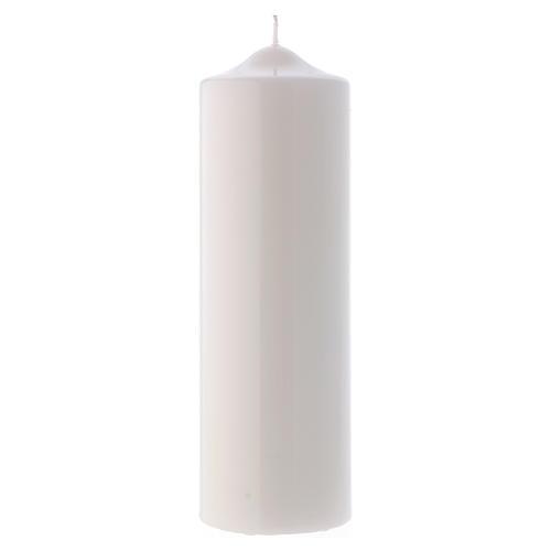 Candelotto Liturgico Lucido Ceralacca 24x8 cm bianco 1