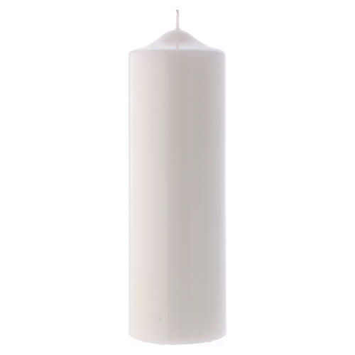 White altar candle 24x8 cm, Ceralacca collection 1