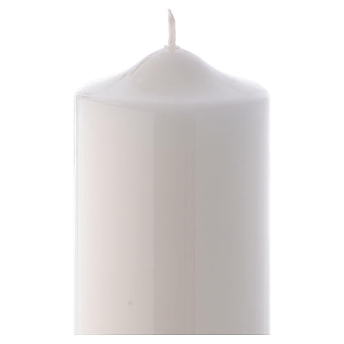 White altar candle 24x8 cm, Ceralacca collection 2