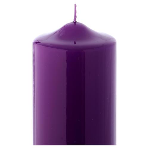 Cirio de Altar Lúcido Ceralacca 24x8 cm violeta 2