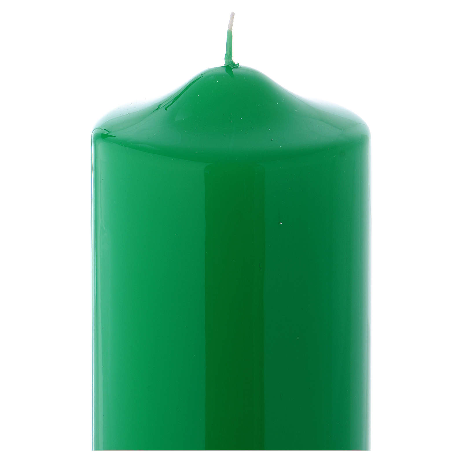 Candelotto da Mensa Lucido Ceralacca 24x8 cm verde 3