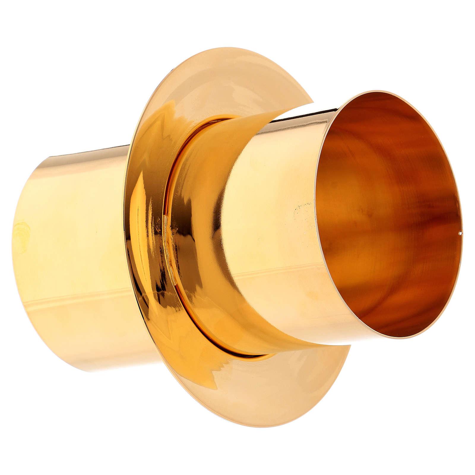Joint cierge pascal laiton doré diam. 8 cm 3