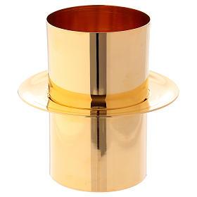 Bougies, cierges, chandelles: Joint cierge pascal laiton doré diam. 8 cm