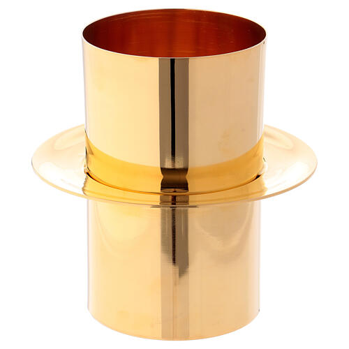Joint piece for Easter Candles in golden brass, 8 cm diam 1